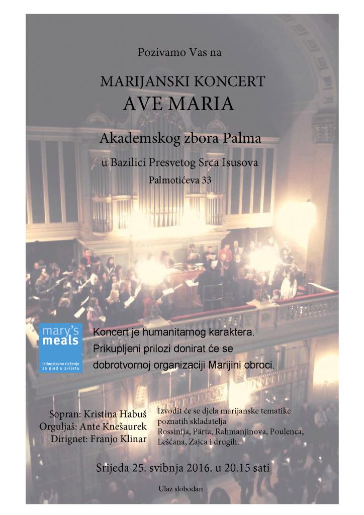 Plakat koncert Ave Maria
